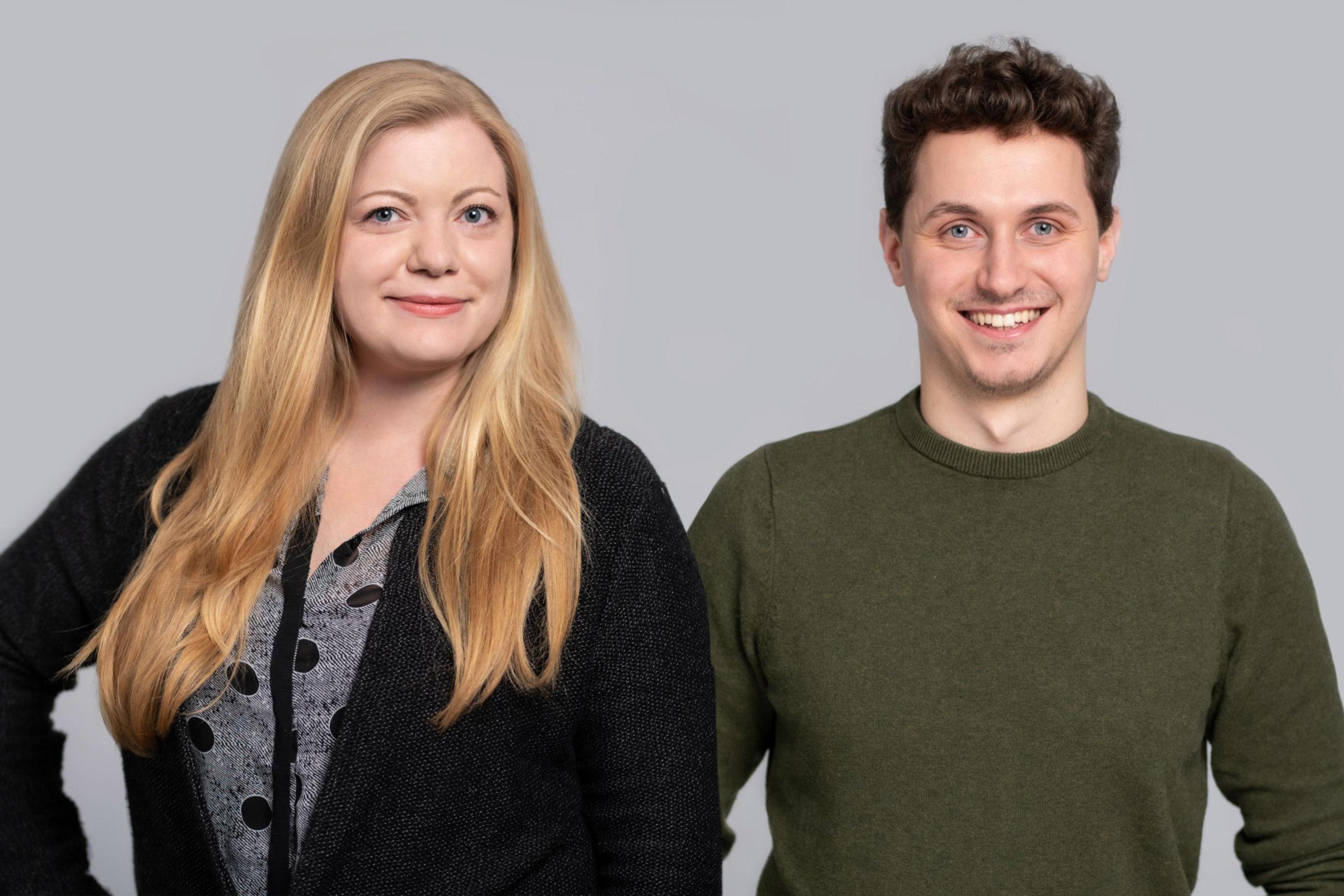 Kontakt aufnehmen zu Objego - Kontaktfoto Katja und Lukas
